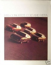 1985 Dodge Vista, Colt, Conquest Brochure - $9.00