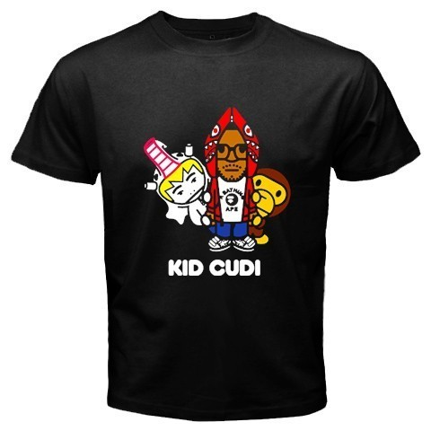 Kid cudi bape baby milo hip hop rnb t shirt tee size s 3xl for Bape t shirt sizing