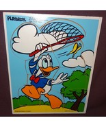 Puzzle Playskool Disney Donald Duck Wooden Tray  Age 2+ Butterfly Catchi... - $10.00