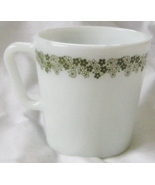 Corelle Pyrex Spring Blossom (Crazy Daisy) Mug Green Milk Glass D Handle - $15.99