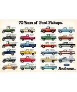70 Years Of Ford Pickups - 1917-1986 - Promotional Advertising Poster - $9.99+