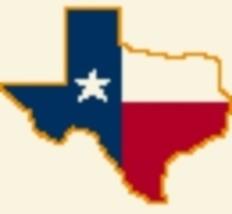 Latch Hook Rug Pattern Chart: Texas Flag Sm -EMAIL2u - $5.50