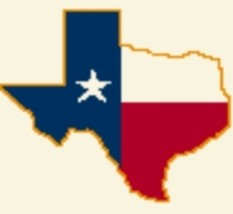 Latch Hook Rug Pattern Chart: Texas Flag Med -EMAIL2u - $5.75