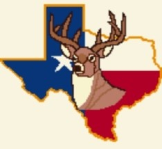 Latch Hook Rug Pattern Chart: Deer In Texas -EMAIL2u - $5.75