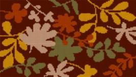 Latch Hook Rug Pattern Chart: Leaves - EMAIL2u - $5.75