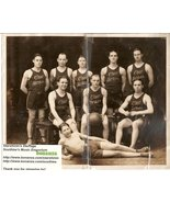 Ohio Brass Basketball B & W Photo Mansfield Ohio 1920's - $29.99