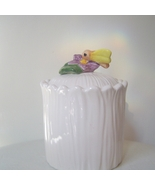 Lefton China Honey Bee Sugar Bowl or Jar with Lid - $12.00
