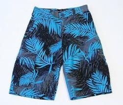 Quiksilver Blue Floral Heavyweight Cargo Shorts Youth Boys 25 Waist NWT $44 - $25.98
