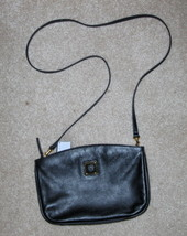 Anne Klein Black  Leather Purse Handbag Tote Clutch Bag - $21.97