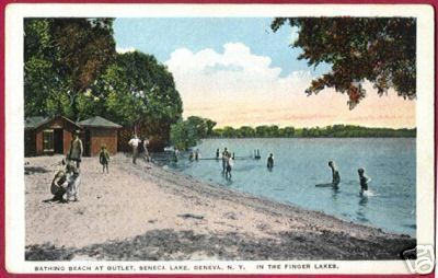 GENEVA NEW YORK NY Seneca lake Bathing Beach Children
