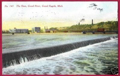 GRAND RAPIDS MICHIGAN Dam River Canaan AD 1910 MI