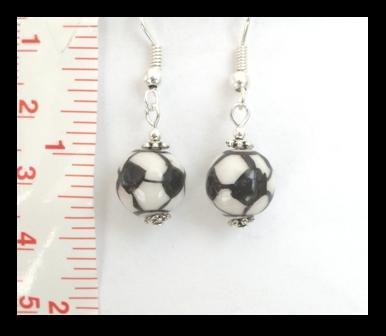 Soccer Ball (Futbol) Dangle Earrings