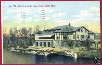 GRAND RAPIDS MICHIGAN Boat Canoe Club 1910 MI