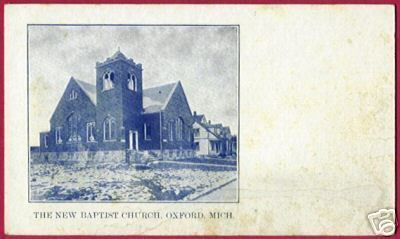 OXFORD MICHIGAN Baptist Church UDB MI Postcard