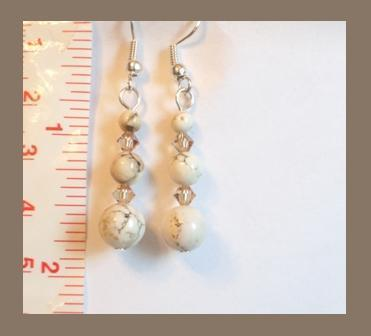 White Turquoise with Swarovski Crystals~See Store Sale