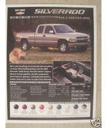 2002 Chevrolet Silverado Brochure - Specifications Sheet - $6.00