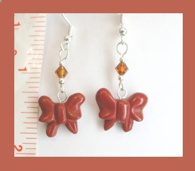 Natural Stone Butterfly Earrings