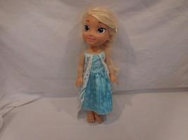 "Disney Animators Frozen Elsa Doll Toddler Dressed 14"" tall - $11.02"
