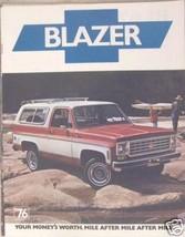 1976 Chevrolet Blazer Brochure - C10 & K10 - $10.00