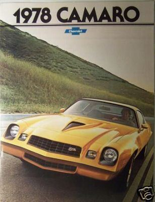 Primary image for 1978 Chevrolet Camaro Brochure - Original!