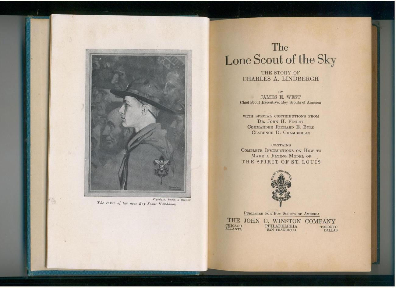 West  LONE SCOUT OF THE SKY  1928  Lindbergh & Boy Scouts