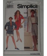 Simplicity Sewing Pattern 7681 Misses Jacket Shorts Skirt Size H 6-10 Uncut - $8.90