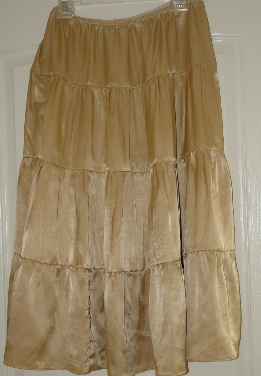 copper key gold tiered skirt size large skirts
