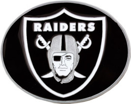 RAIDERS  Belt Buckle,  Officially Lincensed NFL , Medium size , Oakland NEW!! image 1