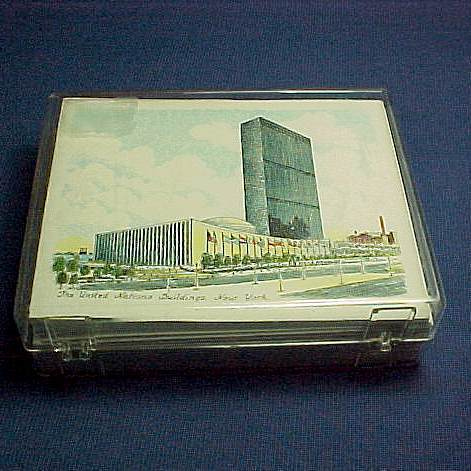 United Nations 1961 Note Cards & Envelopes Box of 12