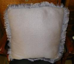 Purple Fringed Decorative Pillow 18 x 18 - $19.95