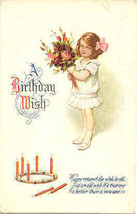 A Birthday Wish From Burdette New York Vintage Post Card - $5.00