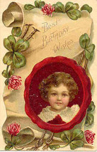 Best Birthday Wishes Vintage Post Card - $5.00