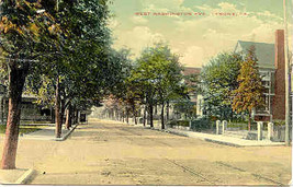 Washington Avenue Tyrone, Pennsylvania 1918 Vintage Post Card - $4.00