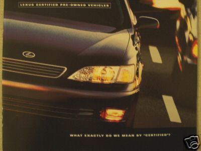 1998 Lexus Pre-Owned Cars Brochure