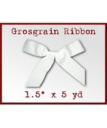 Wide White Grosgrain Craft Ribbon 1.5 in x 5 yd - $2.98