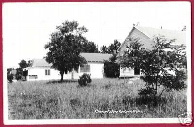 Primary image for GAYLORD MICHIGAN Otsego Lake Homes 1950 RPPC MI