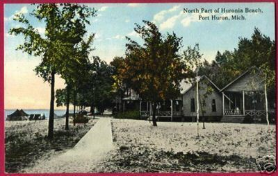 PORT HURON MICHIGAN North Huronia Beach 1913 MI