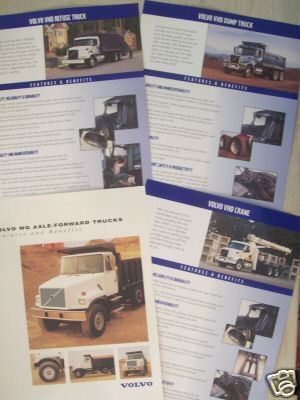 1996-2000 Volvo VHD, WG Severe Service Trucks Brochures - Lot of 4