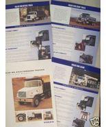 1996-2000 Volvo VHD, WG Severe Service Trucks Brochures - Lot of 4 - $9.00