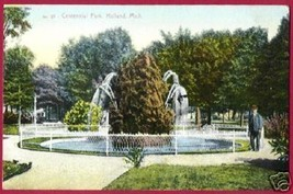 HOLLAND MICHIGAN Centennial Park Fountain MI - $6.50