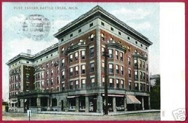BATTLE CREEK MICHIGAN Post Tavern 1909 MI - $6.00