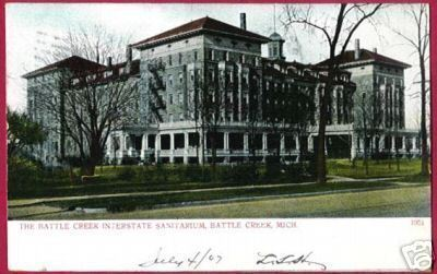 BATTLE CREEK MICHIGAN Interstate Sanitarium UDB 1907 MI