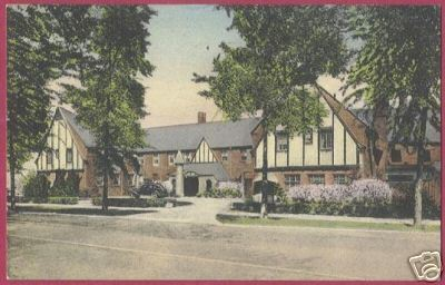 ST CLAIR MICHIGAN Inn Handcolored 1948 MI