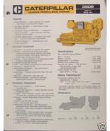 1984 Caterpillar 3508 Marine Diesel Engine Brochure 600hp - $6.00