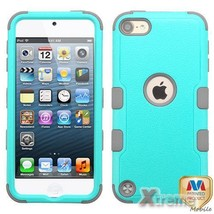 XM-Natural Teal/Gray TUFF Hybrid Case Cover For APPLE iPod Touch(6th/5th... - $12.01