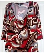 Ladies printed Blouse size X Large - $6.95