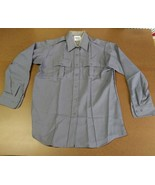 ELBECO TEX-TROP MEN/WOMEN POLICE/SECURITY GRAY LONG-SLEEVE UNIFORM SHIRT... - $19.59