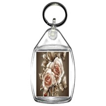 golden roses keyring  handmade in uk from uk made parts, keyring, keyfob