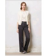 New Anthropologie Foulard Novelty Wide-leg Pants by Elevenses BLUE MOTIF... - £44.46 GBP