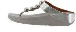 FitFlop Francheska Glitzy Toe Post Sandal SILVER 9 NEW 699-161 - $91.06